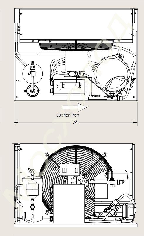 Холодильный агрегат MT40 HK4(VM) .